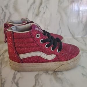 Vans Toddler Glitter Sk8-Hi Zip Sneakers 6